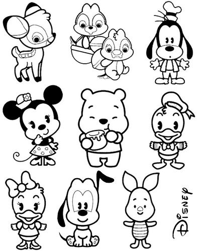 Disney Cuties Vetorizados | ocastelodevidro